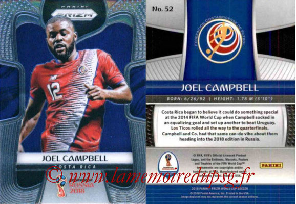 2018 - Panini Prizm FIFA World Cup Russia - N° 052 - Joel CAMPBELL (Costa Rica)