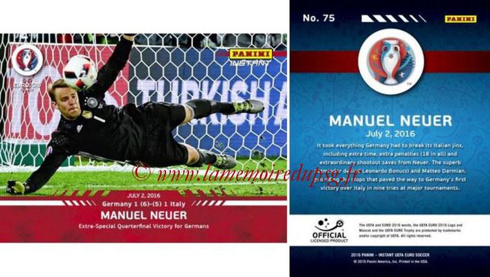 Panini Instant Euro 2016 - N° 075 - Manuel NEUER