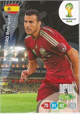 2014 - Panini FIFA World Cup Brazil Adrenalyn XL - N° 155 - Pedro RODRIGUEZ (Espagne)