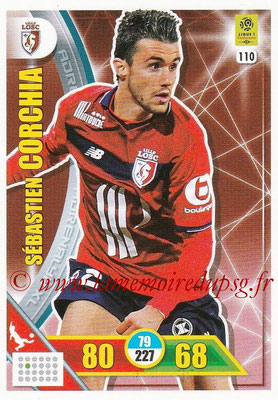 2017-18 - Panini Adrenalyn XL Ligue 1 - N° 110 - Sébastien CORCHIA (Lille)