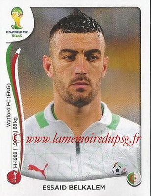 2014 - Panini FIFA World Cup Brazil Stickers - N° 592 - Essaid BELKALEM (Algérie)
