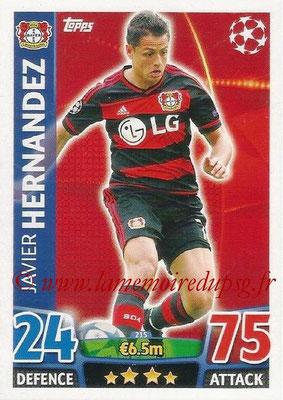 2015-16 - Topps UEFA Champions League Match Attax - N° 215 - Javier HERNANDEZ (Bayer 04 Leverkusen)