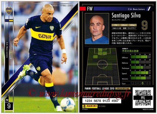 Panini Football League 2013 - PFL04 - N° 087 - Santiago SILVA (Boca Juniors)