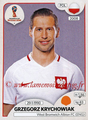 2018 - Panini FIFA World Cup Russia Stickers - N° 605 - Grzegorz KRYCHOWIAK (Pologne)