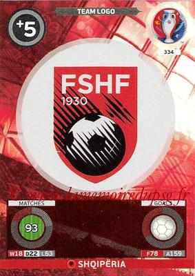 Panini Euro 2016 Cards - N° 334 - Logo de Albanie