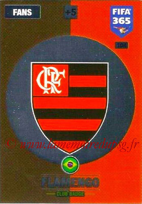 2016-17 - Panini Adrenalyn XL FIFA 365 - N° 104 - Logo Flamengo (Badge club)