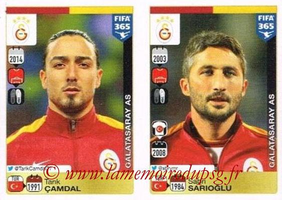 2015-16 - Panini FIFA 365 Stickers - N° 766-767 - Tarik CAMDAL + Sabri SARIOGLU (Galatasaray AS)
