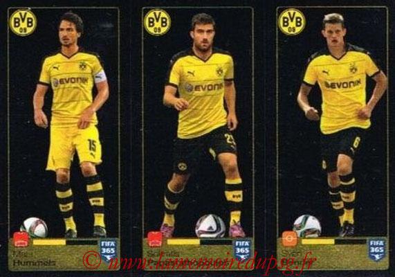 2015-16 - Panini FIFA 365 Stickers - N° 503-504-505 - Mats HUMMELS + Sokratis PAPASTATHOPOULOS - Sven BENDER (Borussia Dortmund)