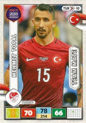 2018 - Panini Road to FIFA World Cup Russia Adrenalyn XL - N° TUR10 - Mehmet TOPAL (Turquie)