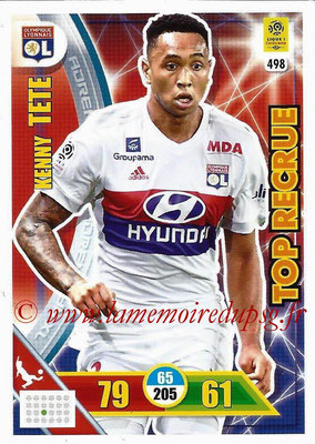 2017-18 - Panini Adrenalyn XL Ligue 1 - N° 498 - Kenny TETE (Lyon) (Top Recrue)