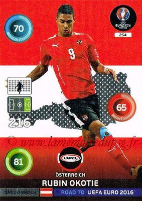 Panini Road to Euro 2016 Cards - N° 254 - Rubin OKOTIE (Autriche) (One to Watch)