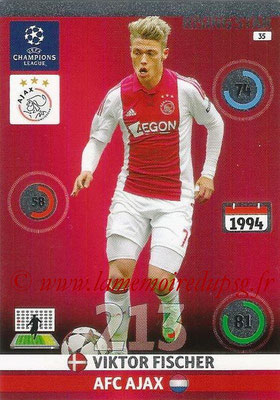 2014-15 - Adrenalyn XL champions League N° 035 - Viktor FISCHER (AFC Ajax) (Rising Star)