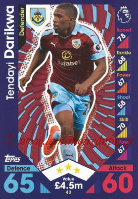 2016-17 - Topps Match Attax Premier League - N° 043