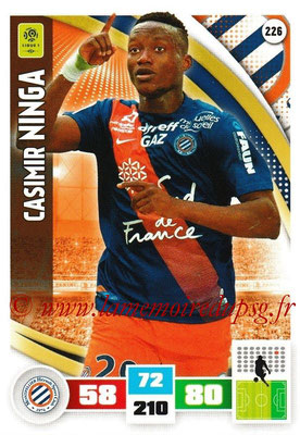 2016-17 - Panini Adrenalyn XL Ligue 1 - N° 226 - Casimir NINGA (Montpellier)
