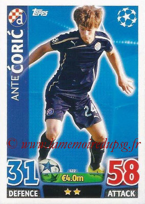2015-16 - Topps UEFA Champions League Match Attax - N° 422 - Ante CORIC (GNK Dinamo Zagreb)