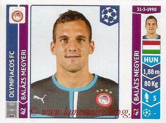2014-15 - Panini Champions League N° 084 - Balazs MEGYERI (Olympiacos FC)