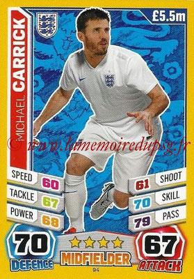 Topps Match Attax England 2014 - N° 094 - Michael CARRICK (Angleterre)