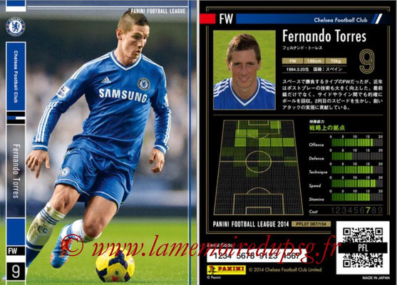 Panini Football League 2014 - PFL07 - N° 067 - Fernando TORRES (Chelsea FC)