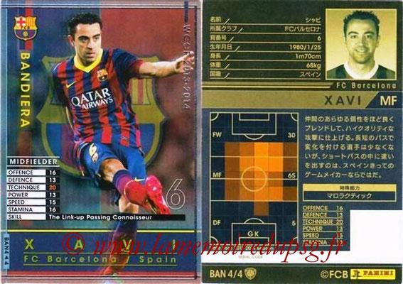 2013-14 - WCCF - N° BAN4 - XAVI (FC Barcelone) (Bandiera)