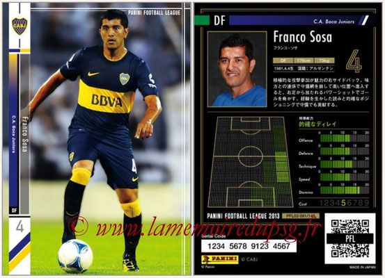 Panini Football League 2013 - PFL03 - N° 081 - Franco Sosa (Boca Juniors)