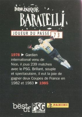 N° 073 - Dominique BARATELLI (Verso)