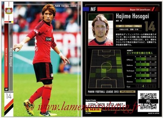 Panini Football League 2013 - PFL02 - N° 111 - Hajime Hosogai ( Bayer 04 Leverkusen )