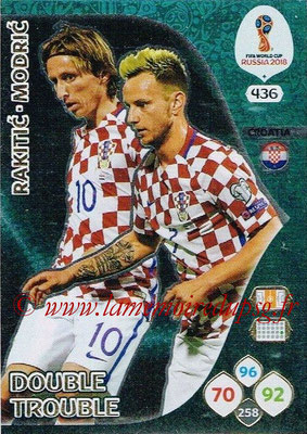 2018 - Panini FIFA World Cup Russia Adrenalyn XL - N° 436 - Ivan RAKITIC + Luka MODRIC (Croatie) (Double Trouble)