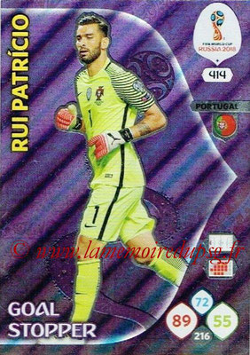 2018 - Panini FIFA World Cup Russia Adrenalyn XL - N° 414 - Rui PATRICIO (Portugal) (Goal Stopper)