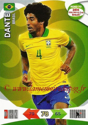 2014 - Panini Road to FIFA World Cup Brazil Adrenalyn XL - N° 018 - DANTE (Brésil)