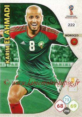 2018 - Panini FIFA World Cup Russia Adrenalyn XL - N° 222 - Karim EL AHMADI (Maroc)