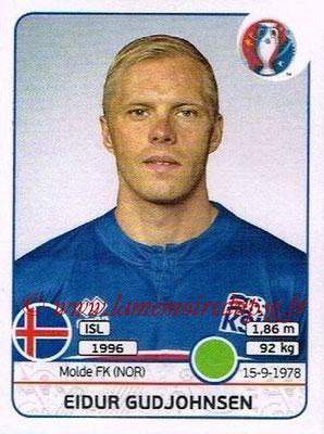 Panini Euro 2016 Stickers - N° 628 - Eidur GUDJOHNSEN (Islande)