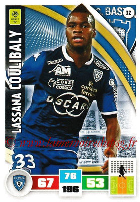 2016-17 - Panini Adrenalyn XL Ligue 1 - N° 032 - Lassan COULIBALY (Bastia)