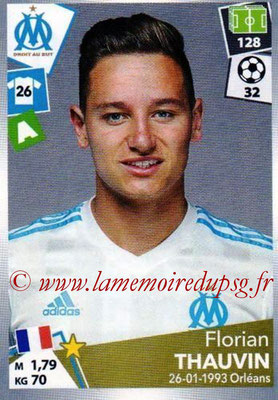 2017-18 - Panini Ligue 1 Stickers - N° 228 - Florian THAUVIN (Marseille)