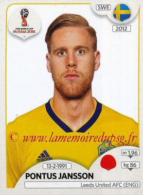 2018 - Panini FIFA World Cup Russia Stickers - N° 481 - Pontus JANSSON (Suede)