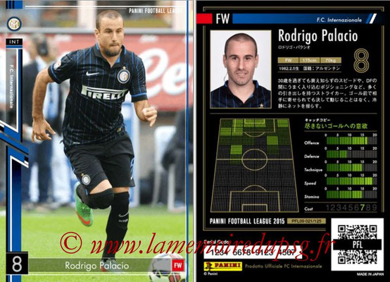Panini Football League 2015 - PFL09 - N° 021 - Rodrigo PALACIO (Inter)