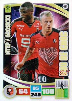 2016-17 - Panini Adrenalyn XL Ligue 1 - N° 431 - Paul-Georges NTEP + Kamil GROSICKY (Rennes) (Duo de Choc)