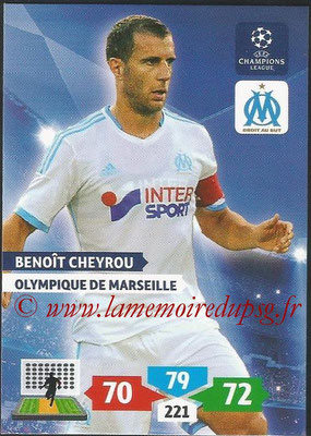 2013-14 - Adrenalyn XL champions League N° 211 - Benoit CHEVROU (Olympique de Marseille)
