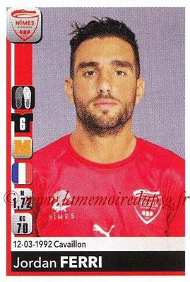 2018-19 - Panini Ligue 1 Stickers - N° T29 - Jordan FERRI (Nîmes) (Transfert)