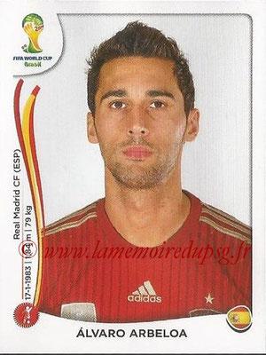 2014 - Panini FIFA World Cup Brazil Stickers - N° 114 - Alvaro ARBELOA (Espagne)