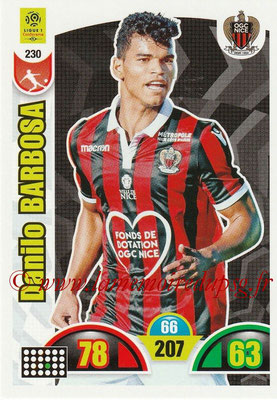2018-19 - Panini Adrenalyn XL Ligue 1 - N° 230 - Danilo BARBOSA (Nice)