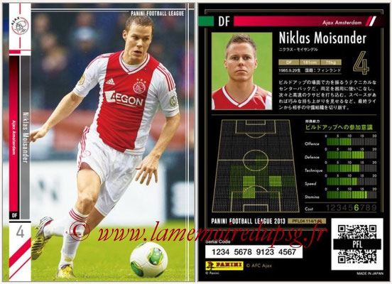 Panini Football League 2013 - PFL04 - N° 114 - Niklas MOISANDER (Ajax Amsterdam)