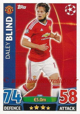 2015-16 - Topps UEFA Champions League Match Attax - N° 328 - Daley BLIND (Manchester United)