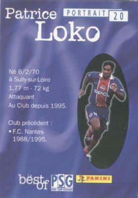 N° 020 - Patrice LOKO (Verso)