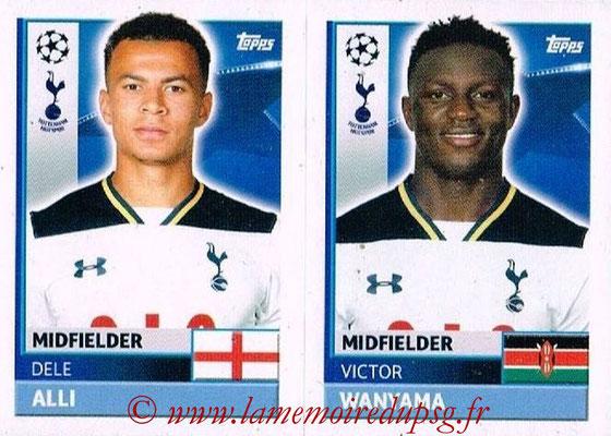 2016-17 - Topps UEFA Champions League Stickers - N° TOT 12-13 - Vistor WANYAMA + Dele ALLI (Tottenham Hotspur)