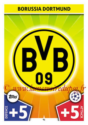 2017-18 - Topps UEFA Champions League Match Attax - N° 091 - Logo Borussia Dortmund (Club Badge)