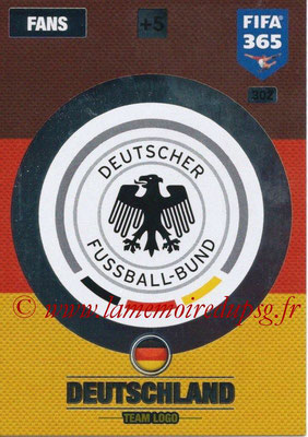 2016-17 - Panini Adrenalyn XL FIFA 365 - N° 302 - Logo Allemagne (Club Badge)