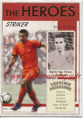 2013 - Futera World Football Unique - N° HER32 - Robin VAN PERSIE (Pays-Bas) (Striker) (The Heroes)