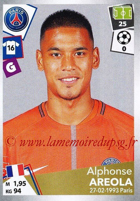 2017-18 - Panini Ligue 1 Stickers - N° 365 - Alphonse AREOLA (Paris Saint-Germain)