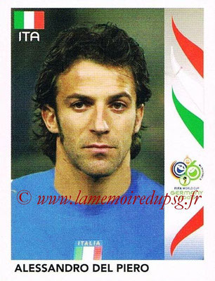 2006 - Panini FIFA World Cup Germany Stickers - N° 335 - Alessandro DEL PIERO (Italie)