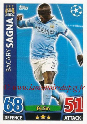 2015-16 - Topps UEFA Champions League Match Attax - N° 038 - Bacary SAGNA (Manchester City FC)